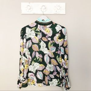 Reiss Flora Print Blouse Multicolored NWT